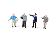 Professional male figurines Royalty Free Stock Photos