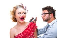 Professional male frisör fotografering för bildbyråer