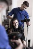 Professional male frisör Royaltyfri Bild