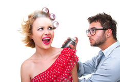 Professional male hairdresser Stock Image