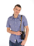 Professional male photographer taking picture Royalty Free Stock Photo