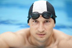 Professional male swimmer Royalty Free Stock Images