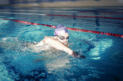 Professional male swimmer Royalty Free Stock Photography