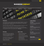 professional mallwebsite Arkivbild