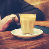Professional Man With Coffee. Professional Person Relaxes On A Coffee Break In a Cafe Stock Images