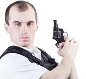 Professional man with gun Stock Photos