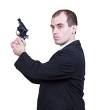 Professional man with gun Stock Photo