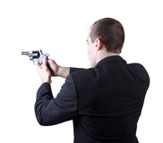 Professional man with gun Royalty Free Stock Photography