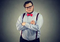 Professional man musician with baton royalty free stock photography