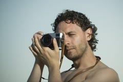 Professional man photographer Stock Image
