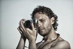 Professional man photographer Royalty Free Stock Image