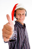 Professional man providing service of christmas Stock Image