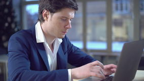 Professional manager working in office. stock footage