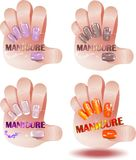 Professional  manicure Stock Photography