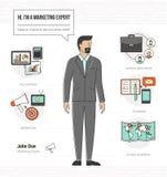 Professional marketing expert stock illustration