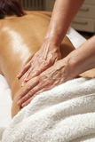 Professional massage and lymphatic drainage  Stock Photography
