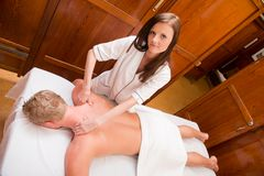 Professional Massage Therapist Stock Image
