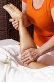 Professional massage-various techniques Royalty Free Stock Images