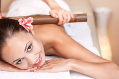 Professional massager making massage Stock Photography