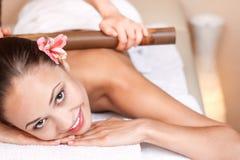 Professional massager making massage Stock Photography