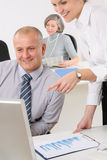 Professional mature businessman office secretary Stock Image