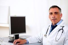 Professional mature medicine specialist Stock Images