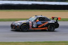 Professional Mazda MX-5 race car on the course Royalty Free Stock Photography