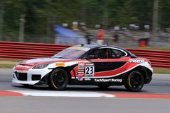 Professional Mazda RX8 race car on the course Royalty Free Stock Images