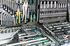 Professional mechanical tools for auto service Stock Images