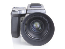 Professional medium format proffesional digital camera Royalty Free Stock Photo