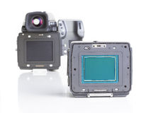 Professional medium format proffesional digital camera Stock Photography