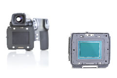 Professional medium format proffesional digital camera Royalty Free Stock Image