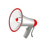 Professional megaphone on white background Royalty Free Stock Images