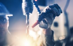 Professional Metal Drilling Royalty Free Stock Photography