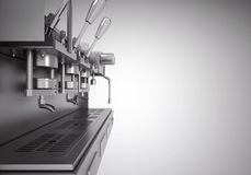 Professional metal electric coffee machine Royalty Free Stock Images