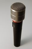 Professional Microphone. In white background Royalty Free Stock Photos