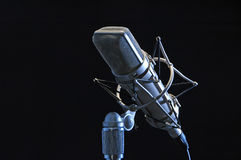 Professional microphone. Isolated on black Royalty Free Stock Photography