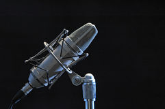 Professional microphone. Isolated on black Royalty Free Stock Photo