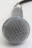 Professional Microphone. Front close up of professional microphone isolated on white stock photos