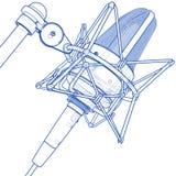 Professional microphone stock illustration