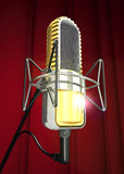 Professional microphone is on the antishock stand 3d  Stock Images