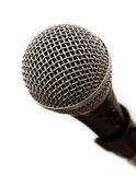 Professional microphone close-up. Isolated on white Royalty Free Stock Photography