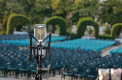 Professional microphone for concert Royalty Free Stock Photos
