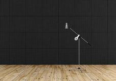 Professional microphone in a recording studio Royalty Free Stock Photography