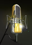 Professional microphone is on the stand 3d illustration. Stock Images
