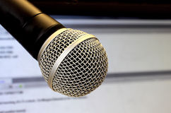 Professional microphone Royalty Free Stock Images