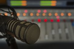 Professional microphone. In the studio Royalty Free Stock Photos