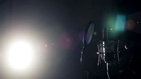 Professional Microphone in Studio. Professional Microphone in Recording Studio, Professional Studio Background with space for text Royalty Free Stock Photography