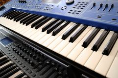 Professional MIDI-keyboard Stock Images