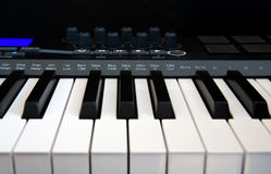 Professional MIDI-keyboard Stock Photo